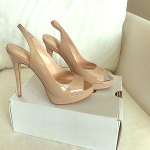 Aldo Nude Patent Leather Heels